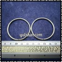 120 Piece Ring Besi 4cm Nikel Silver Tipis