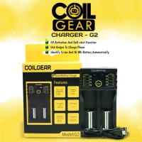 Authentic CoilGear Charger G2Baterai 18650 2 Slot with USB Output Vape