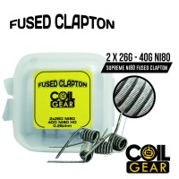 Coil Gear Fused Clapton Ni80 2 Pasang Koil Jadi Kawat Vape Vapor 26+40