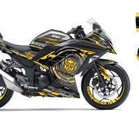 Decal Stiker Ninja 250 R FI SILVER BUMBBLE BEE NEW