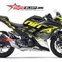 Decal Stiker Ninja 250 R FI BLACK HITECH GREENLIME