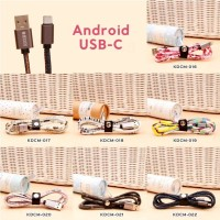 Android USB C - Kabel Data Korea Motif/ Kabel Charger Corak (016-022)