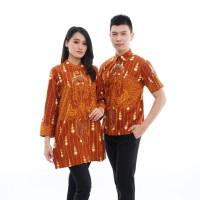 Batik Couple Lapis Trikot CPT139 Baju Pria Wanita Kantoran Premium