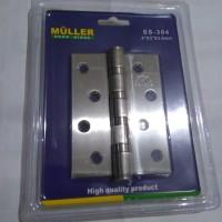 Engsel Pintu Muller 4 inc / Door Hinge SS - 304
