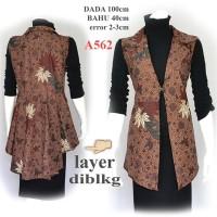 Outer batik tunik batik gamis batik atasan Batik Wanita A562