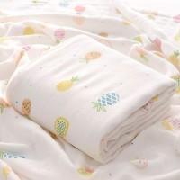 Kain Selimut Bamboo Muslin Blanket Baby Hoppipollakids - Pineapples