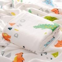 Kain Selimut Bamboo Muslin Blanket Baby Hoppipollakids - Dinosaurus