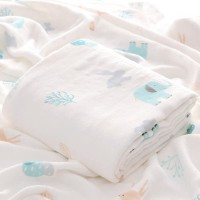 Kain Selimut Bamboo Muslin Blanket Baby Hoppipollakids - WoodLand Fore