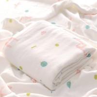 Kain Selimut Bamboo Muslin Blanket Baby Hoppipollakids - Llama