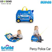Trunki Percy Police Car Luggage Koper Anak Original