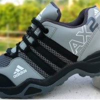Sepatu Murah Sneakers Casual Sekolah Kantor Kuliah Adidas Goretex - Abu-abu, 43