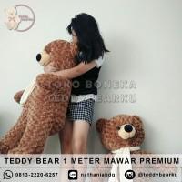 Boneka Teddy Bear Coklat L 100CM Premium + Syal (Langka)