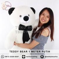 Jual Boneka Teddy Bear Jumbo 1 Meter Warna Putih Khas Bandung