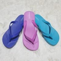 Jelly sandal wanita jepit LOUFA wedges karet import Trendy