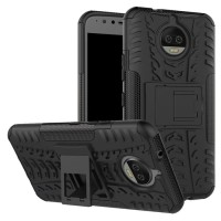 Motorola Moto G5 Plus Armor Standing Hard Soft Case Cover Casing Shock