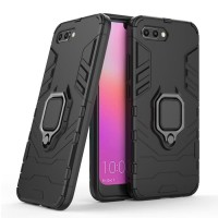 OPPO A3S A5 Black Panther Armor Ring Stand Hard Soft Case Cover Casing