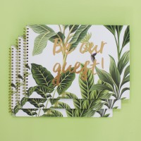 Guest Book - Tropical Green