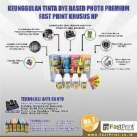TINTA DYE BASED PHOTO PREMIUM HP 1 SET 4 WARNA 125 ML Big promo