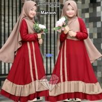hijab rona kids/dress maxi muslim anak/dress gamis anak/baju muslim