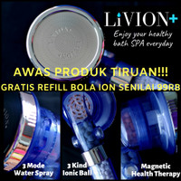 Kepala Shower Ion LIVION+ GRATIS 1SET REFILL BOLA ION