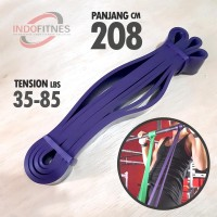208cm Loop Elastic Resistance Band Ungu - Karet Gym Fitness Pull Up