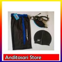 Caps + Celana Renang + Kacamata Speedo &#40-1set&#41-