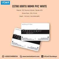 Harga Termurah Cetak Kartu Nama PVC White