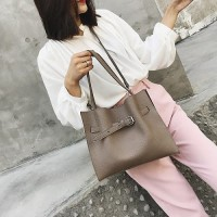 DROP3356 Khaki | Large Capacity Two Piece Bag Koleksi Caciku Shop