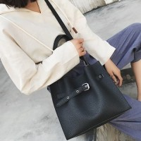 DROP3356 Black | Large Capacity Two Piece Bag Koleksi Caciku Shop