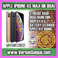 iPhone 64GB XS MAX HK DUAL SIM GOLD GREY GRAY SILVER GARANSI APPLE