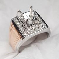 E8 ikat emban cincin perak emas swasa berlian diamond ring 19.5/8.75