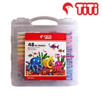TITI Oil Pastel 48 Warna ( Crayon ) Crayon TITI Oil Pastel 48 Warna