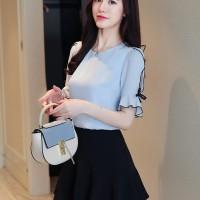 JCFashion Blouse Melisa / Blouse Tangan 3/4 Wanita Gaya Korea