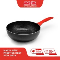 Maxim New Prestige Deep Wok 24cm / Panci 24cm