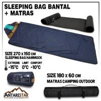 PAKET HEMAT Sleeping Bag Bantal SB Ultralight Plus Matras Camping