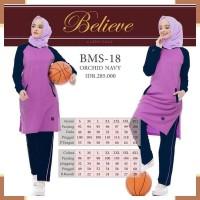 Pakaian Olahraga Wanita A7775 Setelan Baju Olahraga Kaos Muslimah