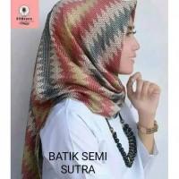 Hijab Segi Empat Termurh ! Jilbab Batik Sutra Pesta Motif Ga SBIC09330