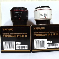 Lensa Youngnuo YN-50mm F1.8 Mark ll For Canon (Black/White)
