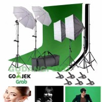 Paket Lighting Mini Studio Background Foto Lampu studio soft Box FR08