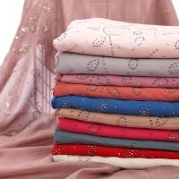 Selendang / Pashmina Hijab Wanita Muslim Bahan Sifon Warna Hitam wj360