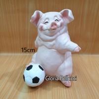 patung pajangan babi bola miniatur pig piggy