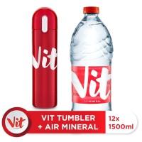 VIT Air Mineral 1500ml Box (12x1500ml) + VIT TUMBLER (Red)