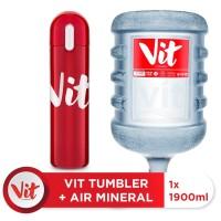 VIT Air Mineral 19liter (1 galon) + VIT TUMBLER (Red)