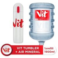 VIT Air Mineral 19liter (Refill) + VIT TUMBLER (White)