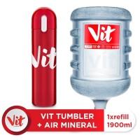 VIT Air Mineral 19liter (Refill) + VIT TUMBLER (Red)