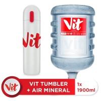 VIT Air Mineral 19liter (1 galon) + VIT TUMBLER (White)