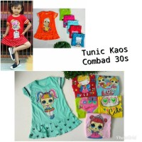 Dress Kaos Anak tunik kaos anak size 1 - 5 tahun