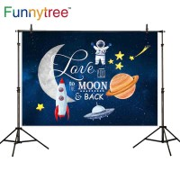 Funnytree photography backdrops space travelling rocket astronaut