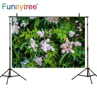 Funnytree photography backdrops green leaf flower nature outdoor
