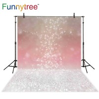 Funnytree photography backdrops bokeh blurred orange party vintage